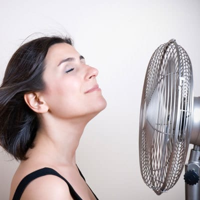 Woman Staying Cool