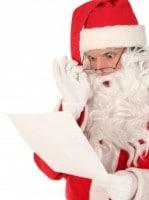 Santa looking at Christmas list