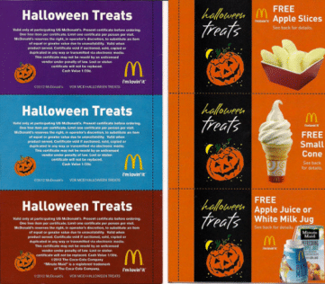 Mcdonalds Halloween Coupons 2020 McDonald's Halloween Coupon Booklet