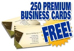250 free business cards and free shipping order 250 business cards using your own design or one of many templates provided get 250 cards free with free shipping reheart Image collections