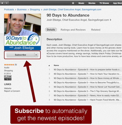 subscribe to my itunes podcast free and get latest shows automatically delivered