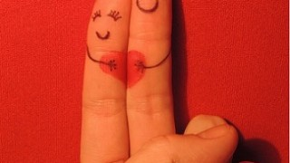 finger couple-heart-romance