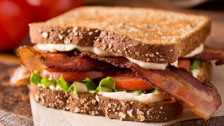Bacon, Lettuce, and Tomato BLT Sandwich