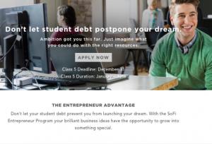 SoFi review 2016 sofi entreprneur program tech startup incubator
