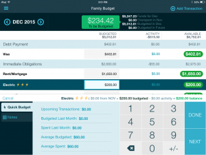 YNAB review 2016 budget category