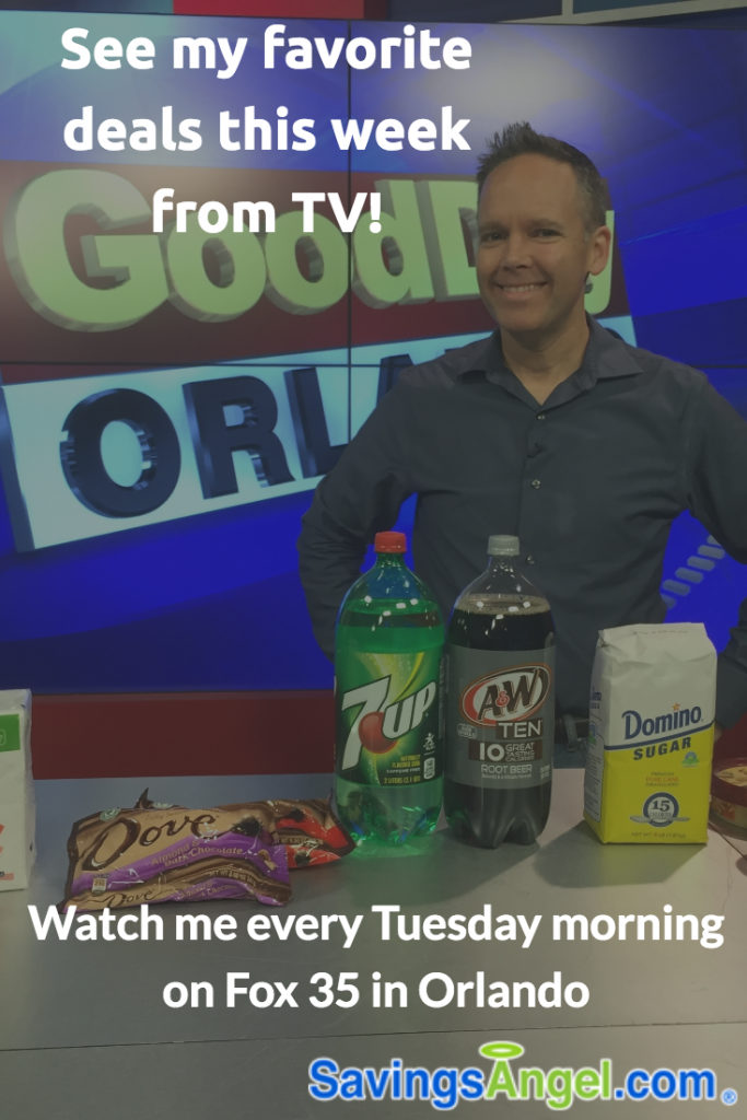 See my favorite coupon deals in Central Florida that I brought in to my TV segment on Fox 35 Orlando.