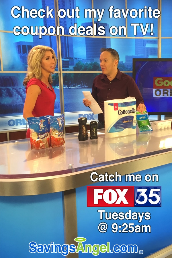 My favorite February 2017 grocery coupon deals at CVS & Publix on TV Orlando Fox 35 sharing coupon deals at Publix Target and Walgreens