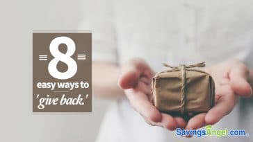 8 easy ways to give back and feel like a million bucks!