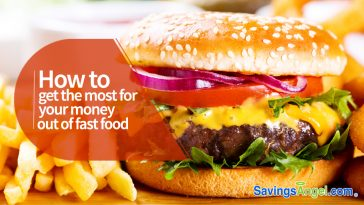 get the most for your money out of fast food