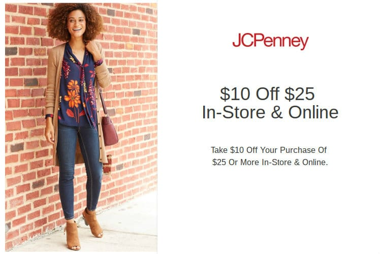 Jcpenney coupon 10 off 25 in store