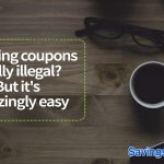 is buying coupons illegal?